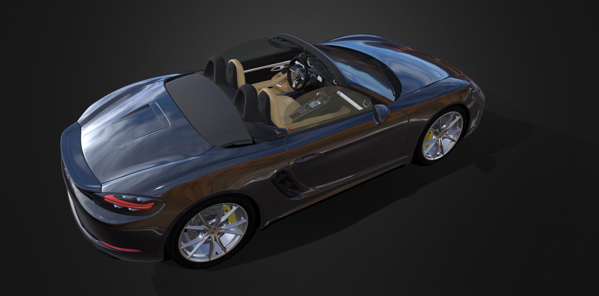 3D Model by Paul Safko   Porsche Boxster 718